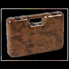 Pistolenkoffer aus ABS Kunststoff in Holzoptik